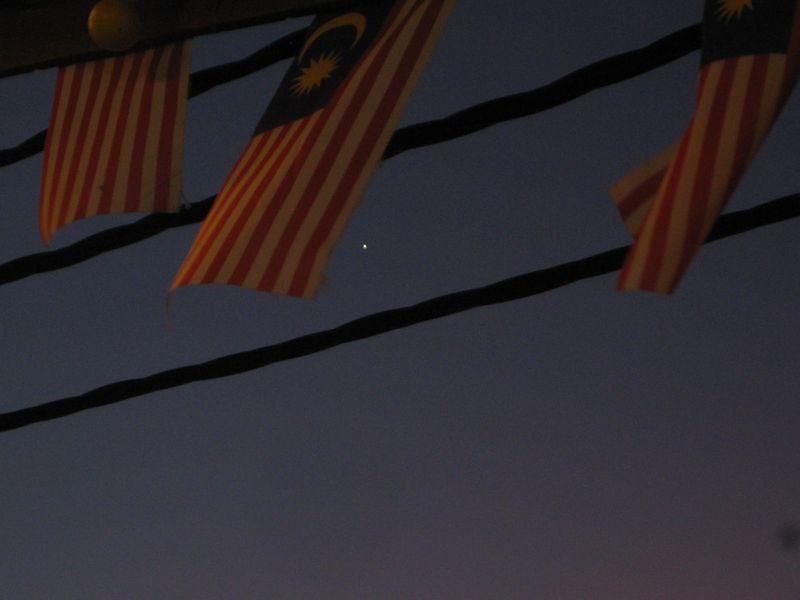 Malaysia flag and star